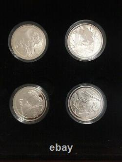 2003 Lord of The Rings 12 Silver Proof Coins Set! Very Rare And Hard To Find