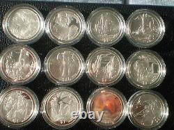 2003 Lord of The Rings 24 Silver Proof Coins Set! Scarce