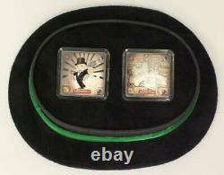 2013 Niue Monopoly 2x 1oz Silver Coin Set New Zealand Mint Hasbro TopHat Display