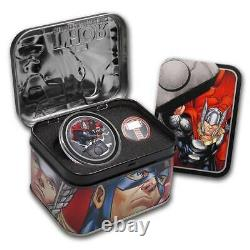 2014 Niue Marvel The Avengers $2 Two Dollar Silver Proof 4 Coin Set Box Coa