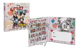 2015 Disney Crazy In Love Mickey & Minnie 1 Oz. Silver Coin First In Series