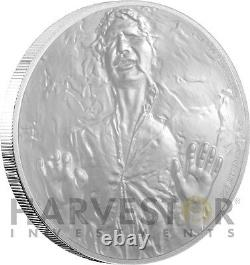 2016 SILVER STAR WARS CLASSIC COIN HAN SOLO FROZEN IN CARBONITE WithOGP COA