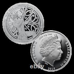 2018 2x 1 OZ Silver Proof Coins Maori Art Maui and the Sun