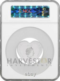 2018 Disney Love Coin Heart Shaped Coin Ngc Pf70 First Releases Ogp & Coa