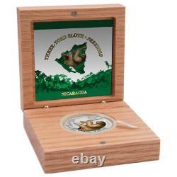 2018 Nicaragua $100 Three-Toed Sloth New Zealand Mint