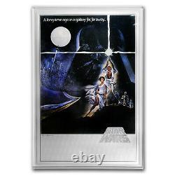2018 Niue 35 gram Silver $2 Star Wars A New Hope Foil Poster SKU#167147