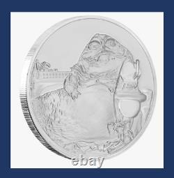 2018 Niue New Zealand Disney Star Wars Classic Jabba the Hutt 1 oz Silver