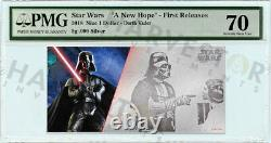 2018 Silver Star Wars Darth Vader 5 Gram Coin Note Pmg 70 First Releases