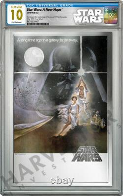 2018 Star Wars A New Hope Premium Silver Foil Cgc 10 Gem Mint First Release