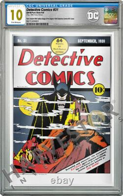 2019 DC Comics Detective Comics #31 Premium Silver Foil Cgc 10 Gem Mint Fr