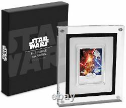 2019 STAR WARS The The Force Awakens POSTER COIN 1 OZ. SILVER
