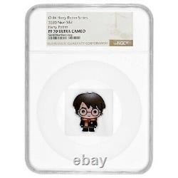 2020 1 oz Colorized Silver Harry Potter Niue Chibi Coin Collection NGC PF 70
