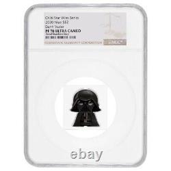 2020 1 oz Colorized Silver Star Wars Darth Vader Niue Chibi Coin NGC PF 70