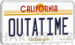 2020 Back To The Future Outatime License Plate 2 Oz. Silver Coin With Ogp