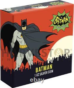 2020 Batman 66 Television Show Batman Adam West 1 Oz. Silver Coin First
