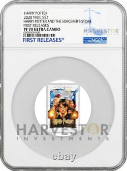 2020 Harry Potter And The Sorcerers Stone Poster Coin Ngc Pf70 First Releases