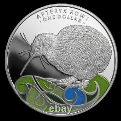 2020 New Zealand $1 Kiwi Colorized Proof 1 oz. 999 Silver Coin 2,500 Made