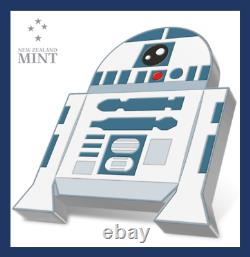 2020 Niue New Zealand Star Wars Chibi Coin R2-D2 1 Oz Silver COA