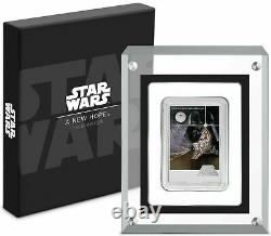 2020 Niue Star Wars New Hope Movie Poster 1 oz. 999 Silver Coin Bar 1,977 Made