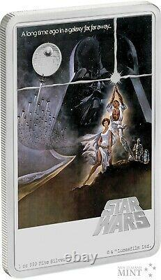 2020 STAR WARS A NEW HOPE POSTER 1 oz Pure Silver Coin NZ MINT NIUE