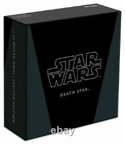 2020 STAR WARS DEATH STAR $2 COIN 1 OZ SILVER OGP/COA. 999 Silver Niue/NZ