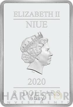 2020 Star Wars Empire Strikes Back 40th Anniversary Poster Coin 1 Oz. Silver