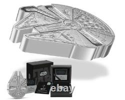 2021 $2 Niue Millenium Falcon 1 oz Shaped Silver Proof Coin