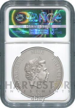 2021 Batmobile 1966 Batmobile 1 Oz. Silver Coin Ngc Ms70 First Releases
