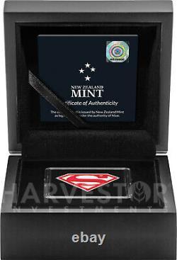 2021 DC Comics Superman Shield 1 Oz. Silver Coin With Ogp Coa