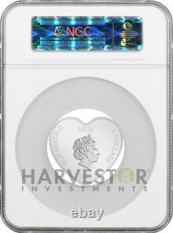 2021 DISNEY LOVE COIN HEART SHAPED COIN NGC PF70 FIRST RELEASES WithOGP