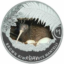 2021 New Zealand $1 Kiwi Colorized Proof 1 oz. 999 Silver Coin 2,500 Made