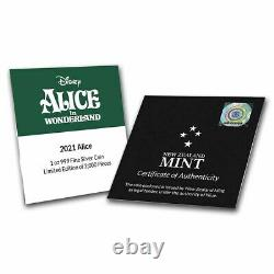 2021 Niue 1 oz Silver $2 Disney Alice in Wonderland SKU#234990