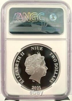 2021 Niue $2 Lord of the Rings Sauron 1 oz Silver Proof Coin NGC PF 70 UCAM