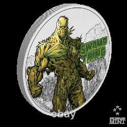 2021 Niue DC Justice League Swamp Thing 50th Ann. 1 oz Silver Coin 1,971 Made