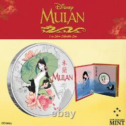 2021 Niue Disney Mulan 1oz Colorized Silver Coin SOLD OUT Princess