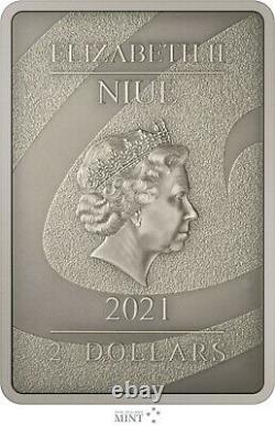 2021 Niue Disney The Nightmare Before Christmas Sally 1oz Silver Coin Bar