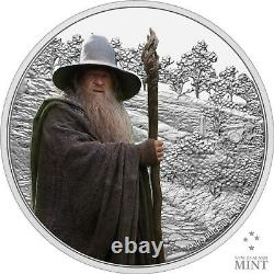 2021 Niue Lord of the Rings Gandalf the Gray 1 oz Silver Proof Coin 3,000 Made