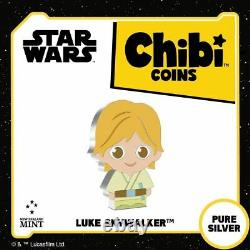 2021 Niue Star Wars Luke Skywalker Chibi 1oz Silver Proof Coin SOLD OUT