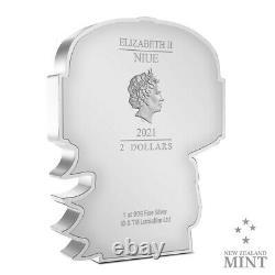2021 Niue Star Wars Mandalorian 1 oz Silver Chibi Coin