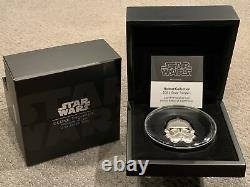 2021 Star Wars Clone Trooper Helmet 2 Oz. Silver Coin High Relief Ogp Coa