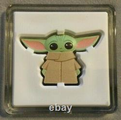 2021 Star Wars MANDALORIAN THE CHILD, BABY YODA GROGU Chibi 1 oz Silver $2 Coin