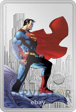 2021 Superman The Man Of Steel 1 Oz. Silver Coin Ogp Coa Superman #204