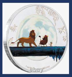 4 Coin Set 2019 Niue New Zealand Disney Silver Lion King 25th Anniversary