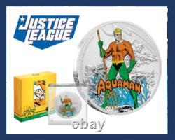 7 Set-Canada Wonder Woman, Niue 60th JLA AM, Batman, Superman, GL, MMH, Fl, DC