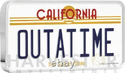 Back To The Future Outatime License Plate Coin 10 Oz. Silver Coin Mintage 88