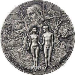Benin 2019 Garden of Eden Adan Eve 5000 Francs Silver Coin 5 oz
