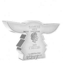 Chibi The Child Mandalorian 1 oz silver coin Niue 2021 and Yoda Vinyl Figur