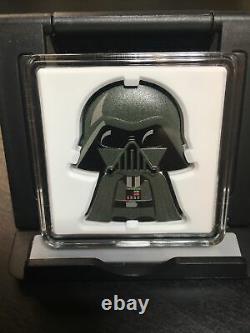 DARTH VADER Chibi Coin #357 of 2000 DISNEY Star Wars 1oz Proof Silver 2020