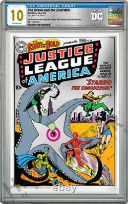 DC Comics The Brave And The Bold #28 Premium Silver Foil Cgc 10 Gem Mint
