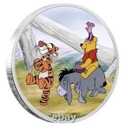 DISNEY POOH AND FRIENDS WINNIE THE POOH 2021 NUIE 1oz SILVER COIN NGC PF70